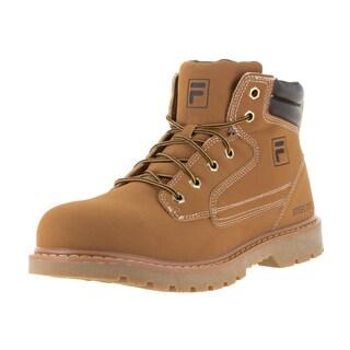 Fila Men's Landing Steel Wheat/Esprso/Gm Synthetic Leather Boots