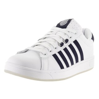 K-Swiss Men's Hoke CMF Ice White and Navy Leather Casual Shoes