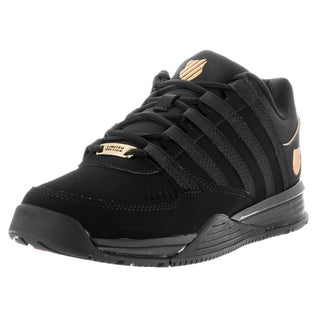 K-Swiss Men's Baxter Black/Gold/Black Fabric Casual Shoe