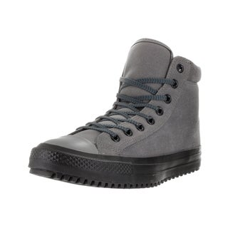 Converse Unisex Chuck Taylor All Star Grey Synthetic Leather Boots