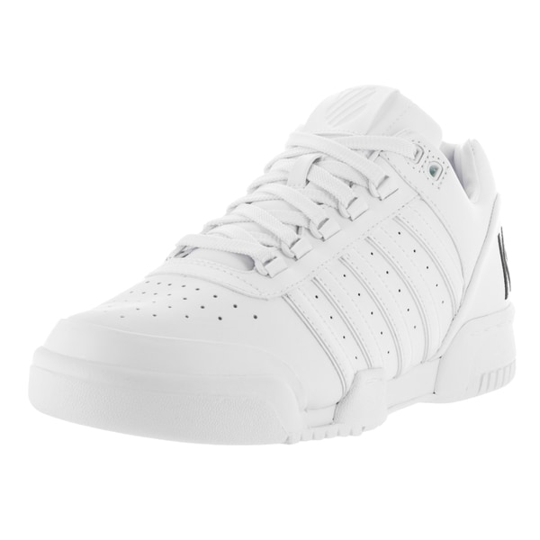 fae7862cd00a1 Shop K-Swiss Men's Gstaad Big Logo White/Black Leather Casual Shoes ...