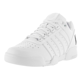 K-Swiss Men's Gstaad Big Logo White/Black Leather Casual Shoes