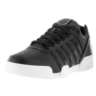 K-Swiss Men's Gstaad Big Logo Black and White Leather Casual Shoes