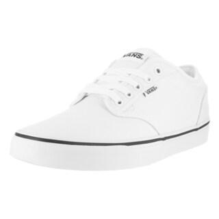 Vans Men's Atwood Black Foxing White/White Canvas Skate Shoe