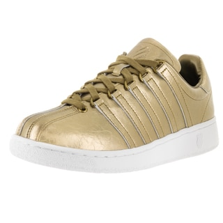 K-Swiss Men's Classic VN Gold Aged Foil Leather Casual Shoes