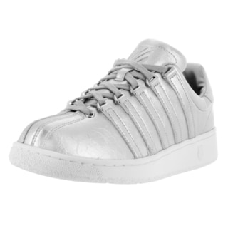K-Swiss Men's Classic VN Aged Foil Silver and White Fabric Casual Shoes