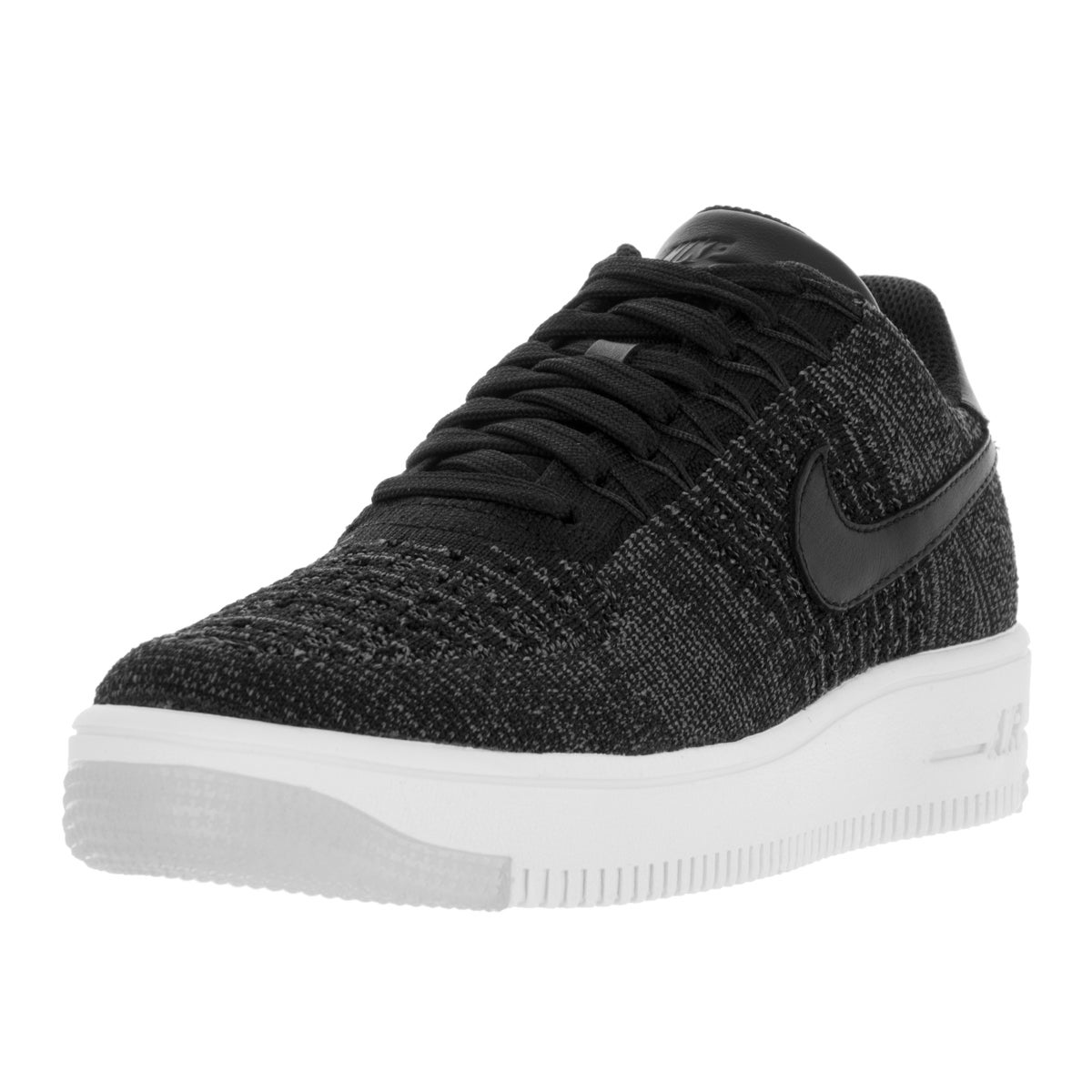 Nike Women's AF1 Flyknit Low Black and White Casual Shoe ...