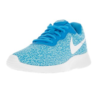 Nike Women's Tanjun Print Blue Glow Textile Running Shoes