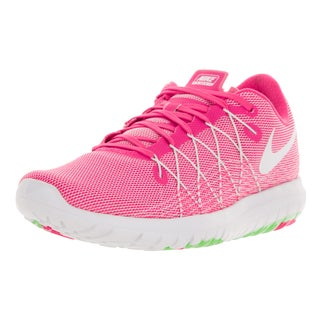 Nike Women's Flex Fury 2 Pink Blast/White/Electric Green Running Shoes