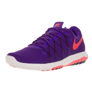 Nike Women's Flex Fury 2 Purple, Bright Crimson, Black, and White Synthetic Running Shoes