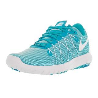 Nike Women's 'Flex Fury 2' White/Gamma Blue/Blue Lagoon Plastic Running Shoe