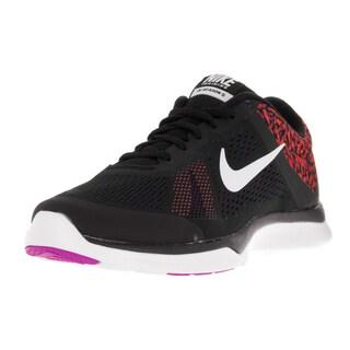 Nike Women's In-Season Tr 5 Print Blk, White, Hypr Vlt, Brght Crmsn Training Shoe