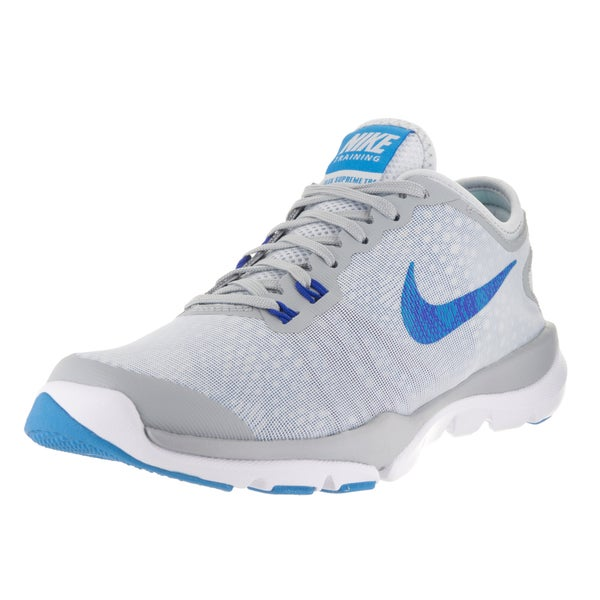946b84cc045f6 ... Women s Athletic Shoes. Nike Women  x27 s Flex Supreme TR 4  Platinum Blue Glow Wolf