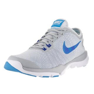 Nike Women's Flex Supreme TR 4 Platinum/Blue Glow/Wolf Grey/ Racer Bl Pr Pr Training Shoe