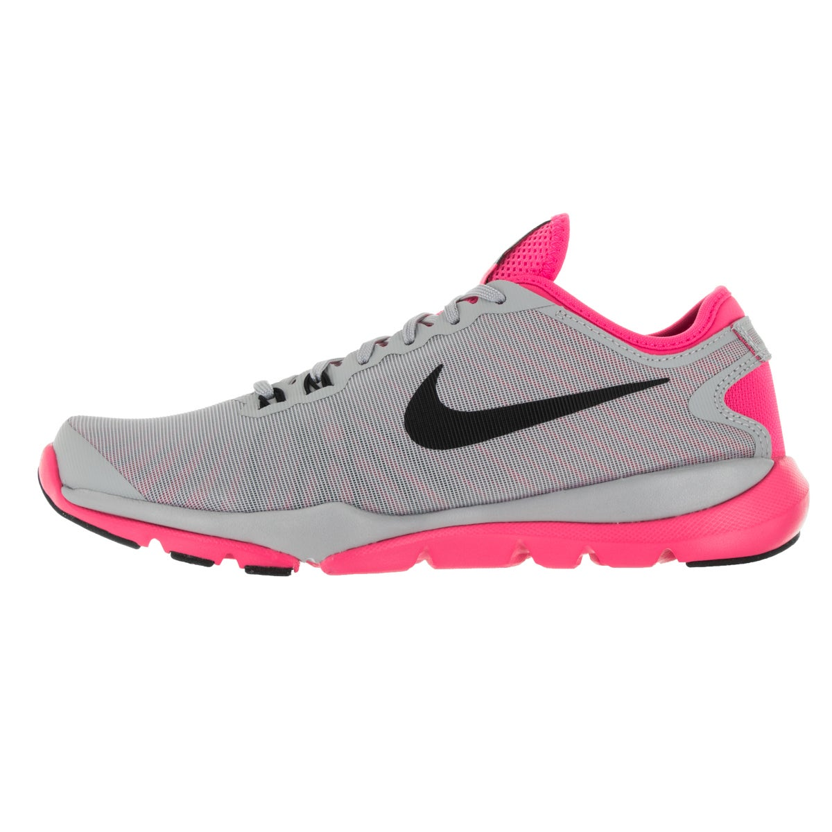 fc34c0776 Shop Nike Women's Flex Supreme Tr 4 Wolf Grey, Black, and Pink Textile Training  Shoes - Free Shipping Today - Overstock - 13313191