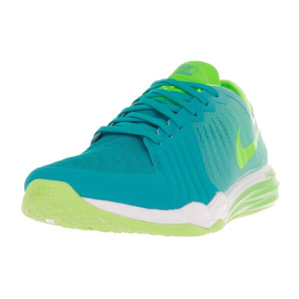 in stock good cheap sale Shop Nike Women's Dual Fusion TR 4 Print Green Training Shoes ...