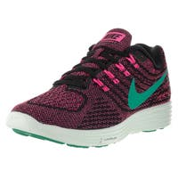 Nike Women's Lunartempo 2 Pink, Black, and Green Plastic Running Shoes
