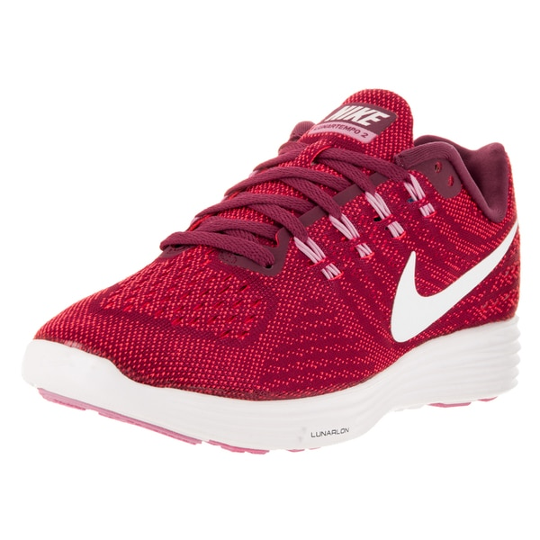 4281df38a8b6 Shop Nike Women s Lunartempo 2 Nbl Red Running Shoes - Free Shipping ...