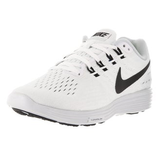 Nike Women's Lunartempo 2 White, Black, and Pure Platinum Synthetic Running Shoes