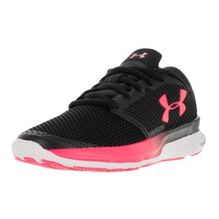 Under Armour Women's UA Charged Reckless Blk, Wht, and Pkc Running Shoe