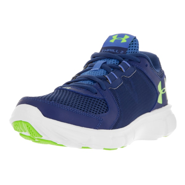 pretty nice 0d7b5 f222d Shop Under Armour Women's UA Thrill 2 Her Blue and White ...