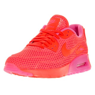 Nike Women's Air Max 90 Ultra Br Total Crimson and Pink Blast Running Shoe