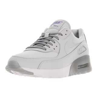 Nike Women's Air Max 90 Ultra Essential Pure Platinum Leather Running Shoes