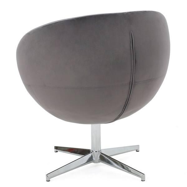 Excellent Shop Isla Velvet Fabric Roundback Modern Chair By Creativecarmelina Interior Chair Design Creativecarmelinacom
