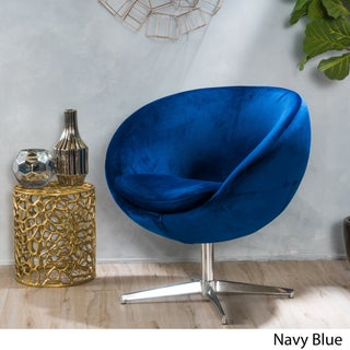 Isla Velvet Fabric Roundback Modern Chair by Christopher Knight Home (3 options available)