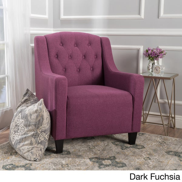Maisy Tufted Fabric Club Chair By Christopher Knight Home   Free Shipping  Today   Overstock.com   20024006