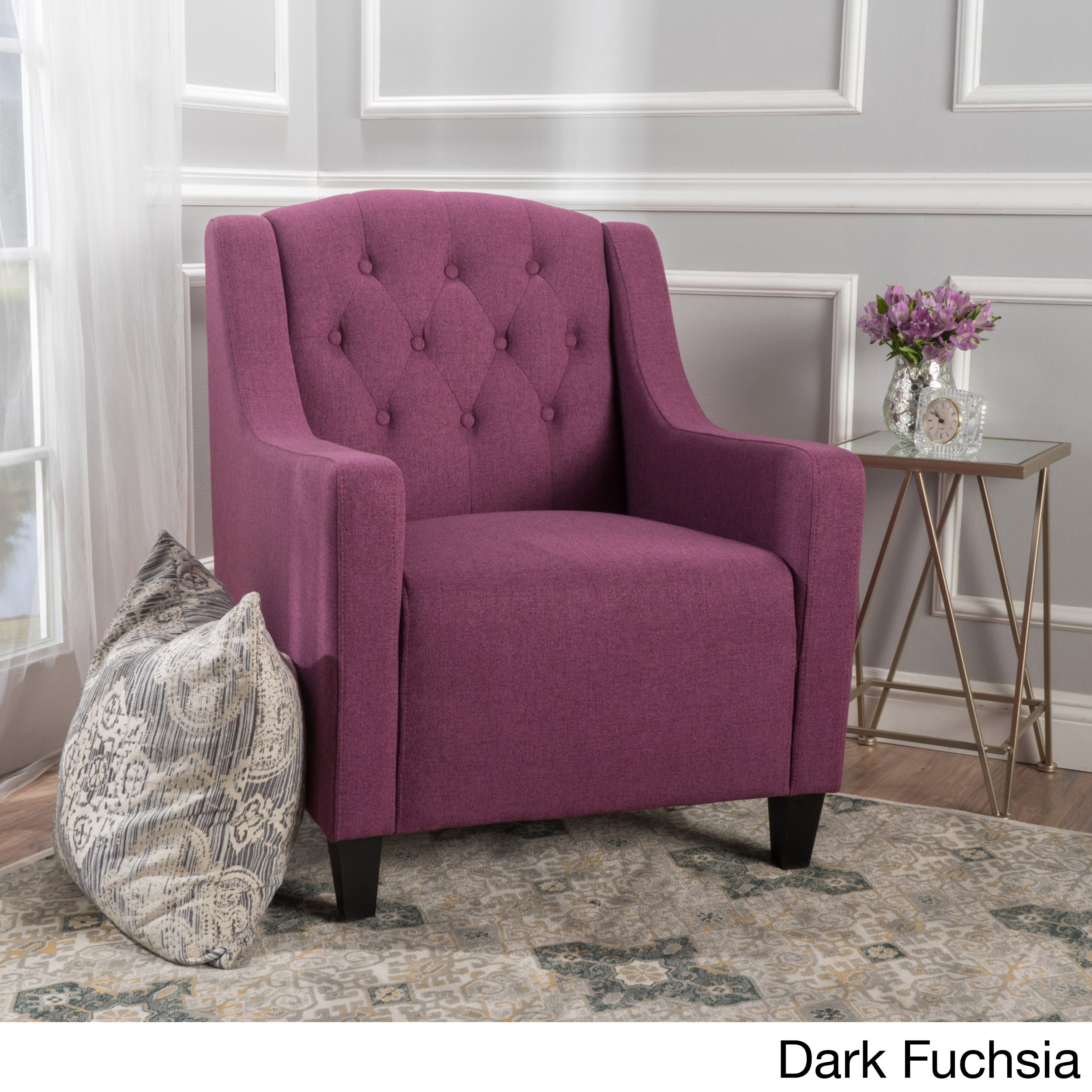 Maisy Tufted Fabric Club Chair By Christopher Knight