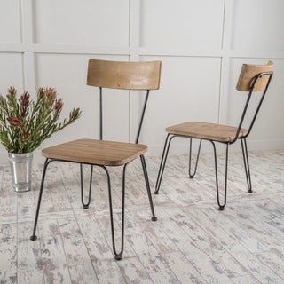 Orval Metal Dining Chair (Set of 2) by Christopher Knight Home