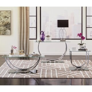 Lacasta Mid Century Modern U-shaped Chrome Living Room Table Collection