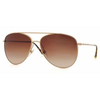 Burberry Women BE3072 118913 Gold Metal Cateye Sunglasses