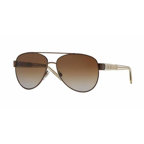 Burberry Women BE3084 1212T5 Brown Plastic Cateye Sunglasses