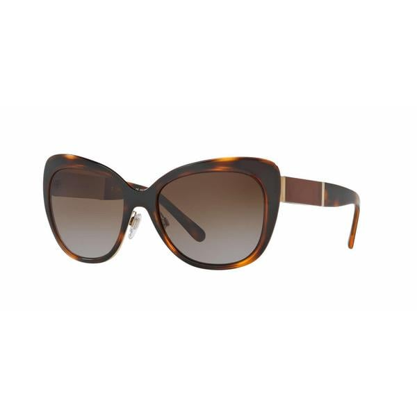 7d62275df2a0 Shop Burberry Women BE3088 1217T5 Havana Cat Eye Sunglasses - Free Shipping  Today - Overstock - 13318769
