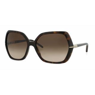 Burberry Women BE4107 300213 Havana Plastic Irregular Sunglasses