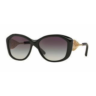 Burberry Women BE4208QF 30018G Black Metal Cat Eye Sunglasses