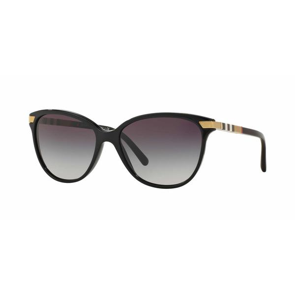Burberry Women BE4216 30018G Black Plastic Cat Eye Sunglasses