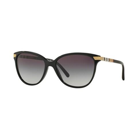 Burberry Women BE4216 30018G Black Plastic Cat Eye Sunglasses