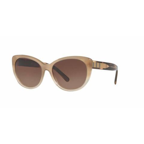 Burberry Women BE4224 335413 Light Brown Plastic Cat Eye Sunglasses