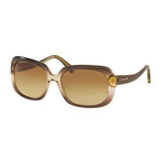 Coach Women HC8178 L1591 54002L Green Plastic Rectangle Sunglasses