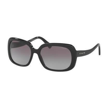 f2ba12ba2653c Shop Coach Women HC8178 L1591 500211 Black Plastic Rectangle Sunglasses -  Free Shipping Today - Overstock - 13318844