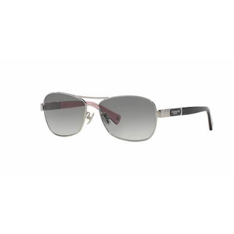 f0656bdcfa Coach Women HC7012 L038 CAROLINE 910211 Silver Plastic Cateye Sunglasses