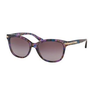 Coach Women HC8132 L109 52888H Violet Plastic Cat Eye Sunglasses