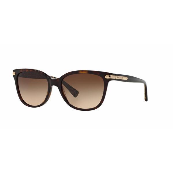 4dce80247e Shop Coach Women HC8132 L109 529113 Havana Plastic Cat Eye Sunglasses - Free  Shipping Today - Overstock - 13318857