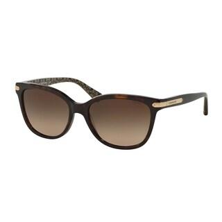 Coach Women HC8132 L109 529113 Havana Plastic Cat Eye Sunglasses