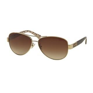 Coach Women HC7047 L103 CHRISTINA 920213 Gold Plastic Cateye Sunglasses