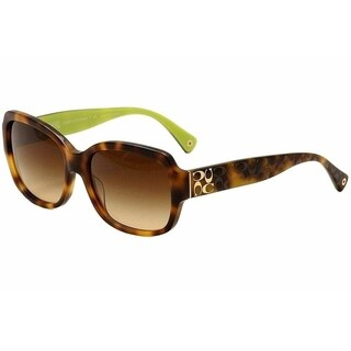 Coach Women HC8001 L001 EMMA 505213 Havana Plastic Square Sunglasses - Brown