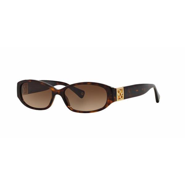 Coach Women HC8012 HOPE 500113 Havana Plastic Oval Sunglasses - Tortoise